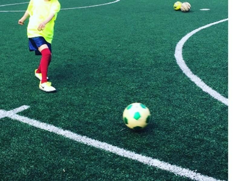 英語deサッカー体験会の画像