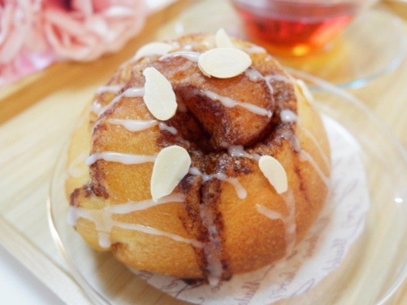 京都『はじめての天然酵母パン シナモンロール』の画像