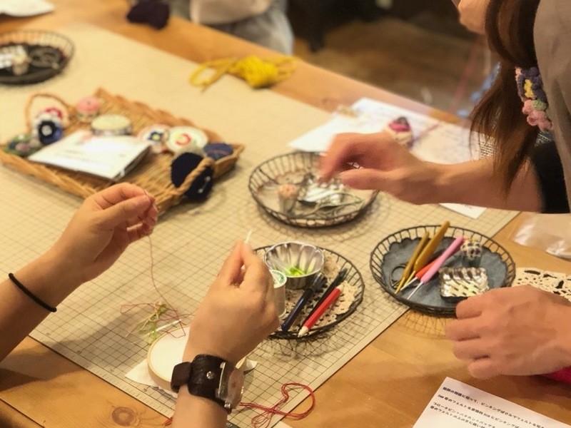 浅草橋で開催!!5つのメニューから選べる刺しゅうのワークショップの画像