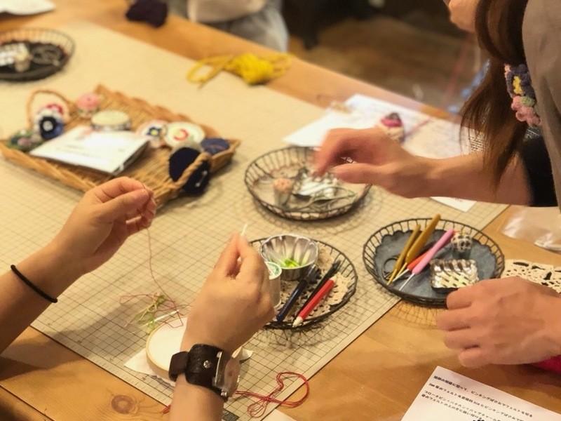 浅草橋で開催!!6つのメニューから選べるかぎ針編みのWS♪の画像