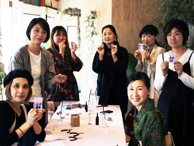 【大阪・天王寺】ガラスカボションアクセサリーを作りませんか?の画像