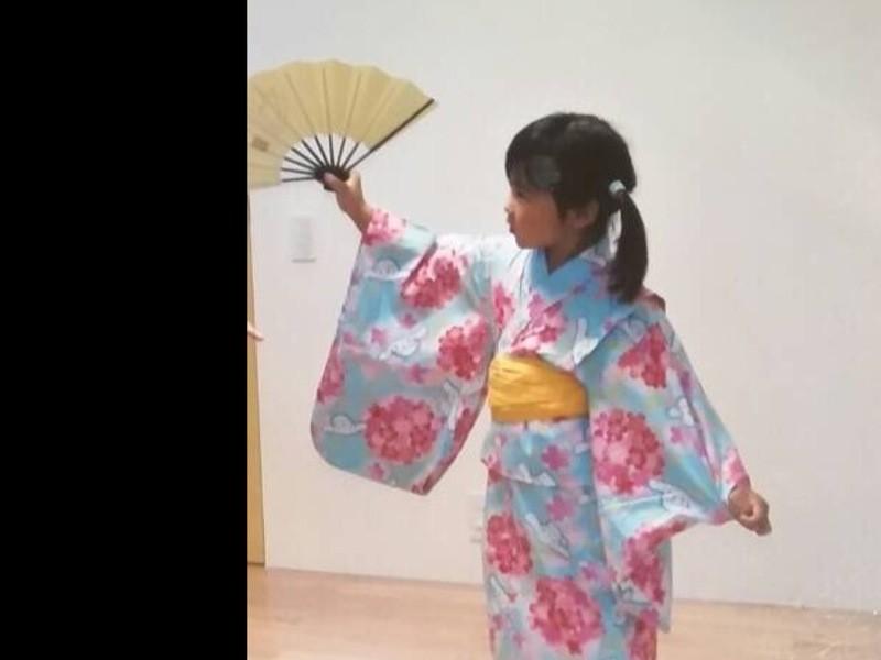 夏休み親子ワークショップ 日本舞踊(地唄舞)体験の画像