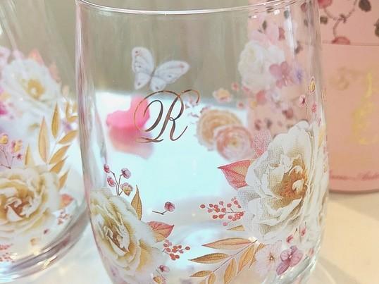 ポーセラーツで作るペアグラス♡の画像