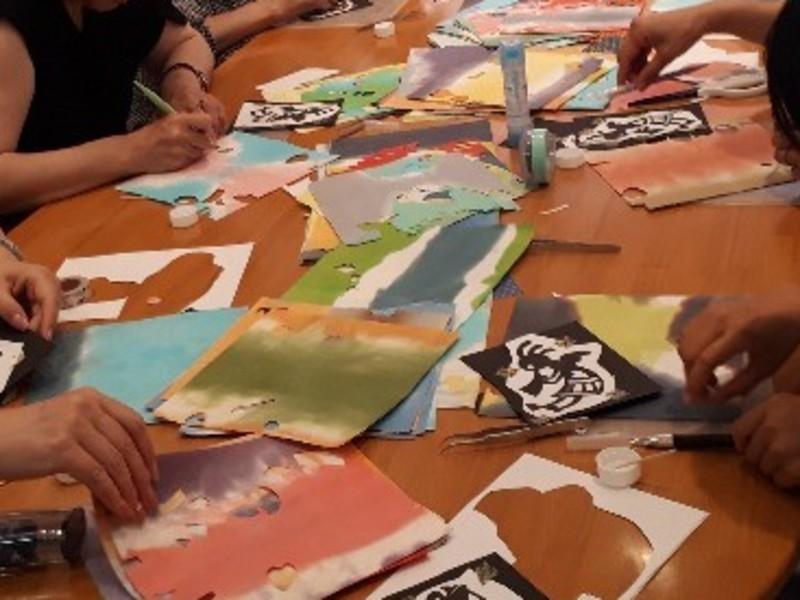 お好きな和紙で、自分色の切り絵を作ってみませんか!の画像