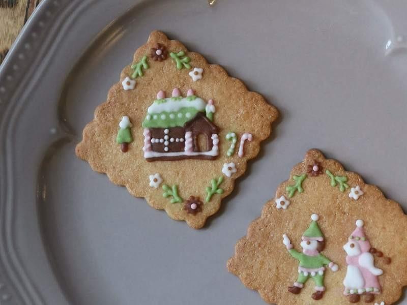 ヘンゼルとグレーテルのアイシングクッキーの画像