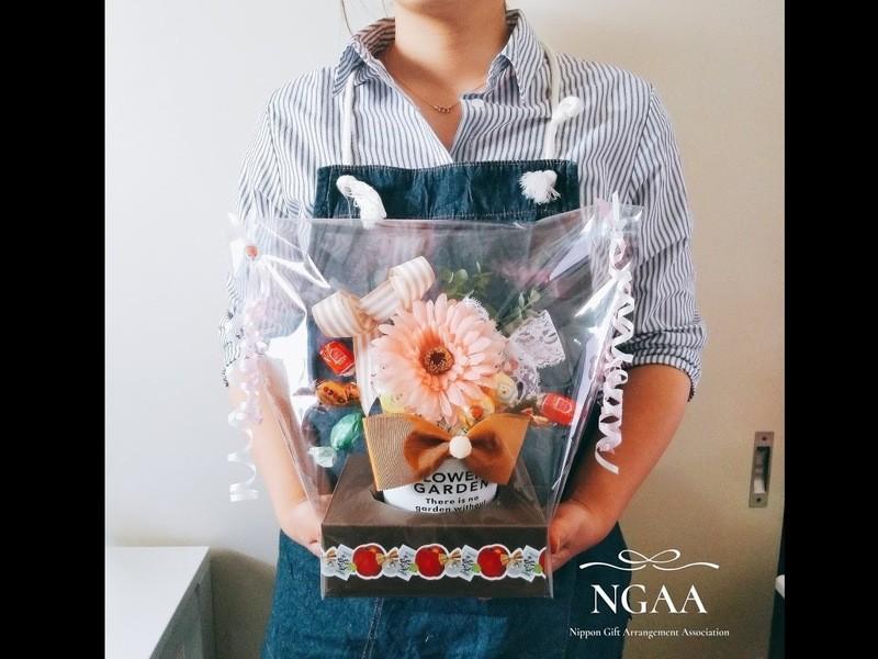 【オンライン講座】華やかお菓子ブーケアレンジメントのレッスン2種類の画像