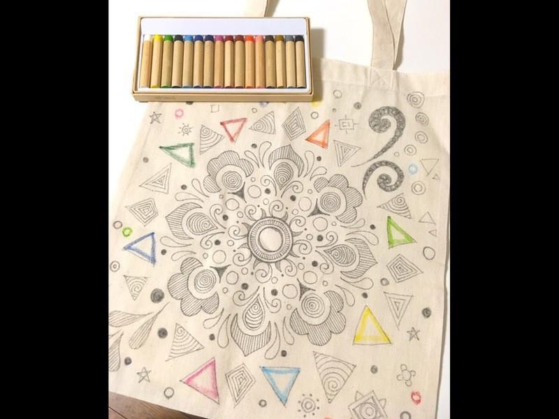 曼荼羅アートでマイバッグを作ろうの画像
