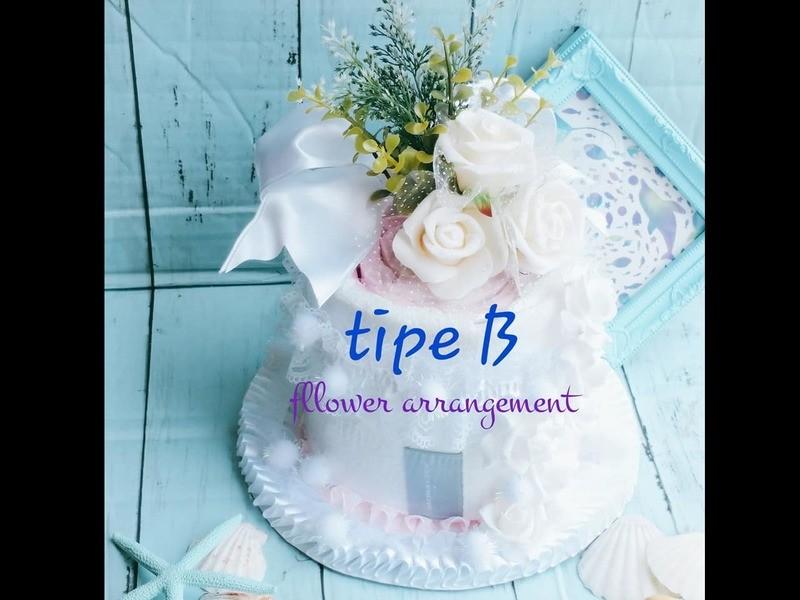 Luxury towel cake arrangementの画像