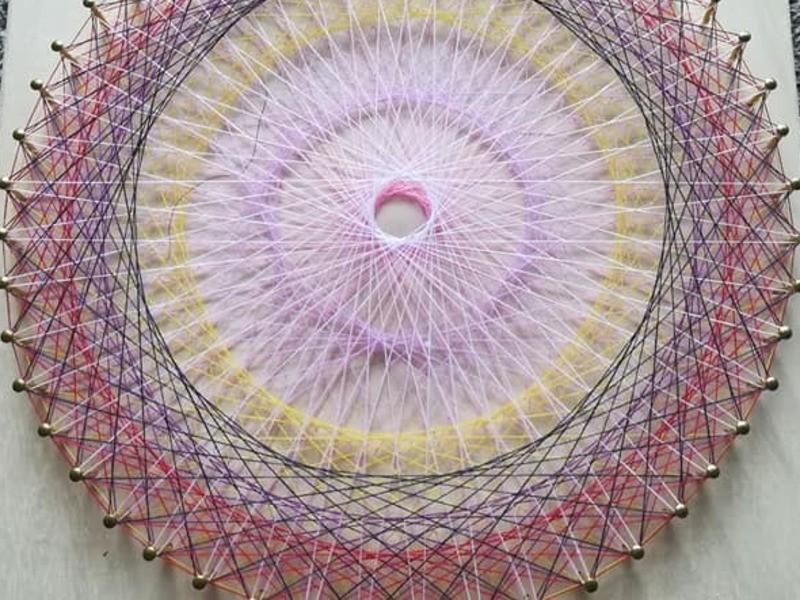 数秘&カラーで見つけるあなた色の糸掛け曼荼羅会(丸型編)の画像