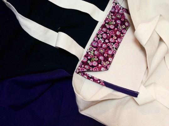 簡単!オリジナル帆布トートと専用ポーチをハンドメイド!の画像