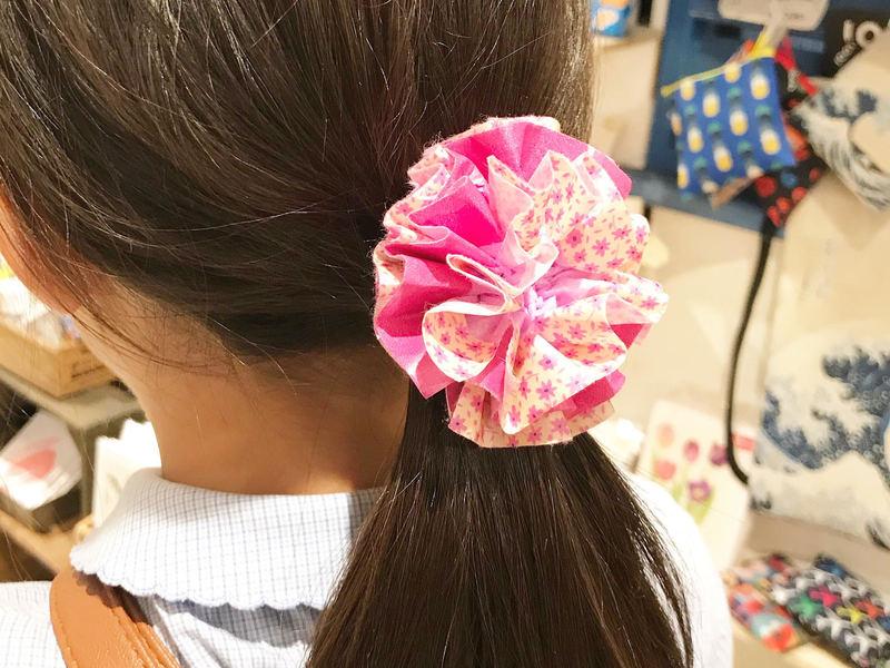 春休み♪マステポンポンのヘアアクセサリーの画像