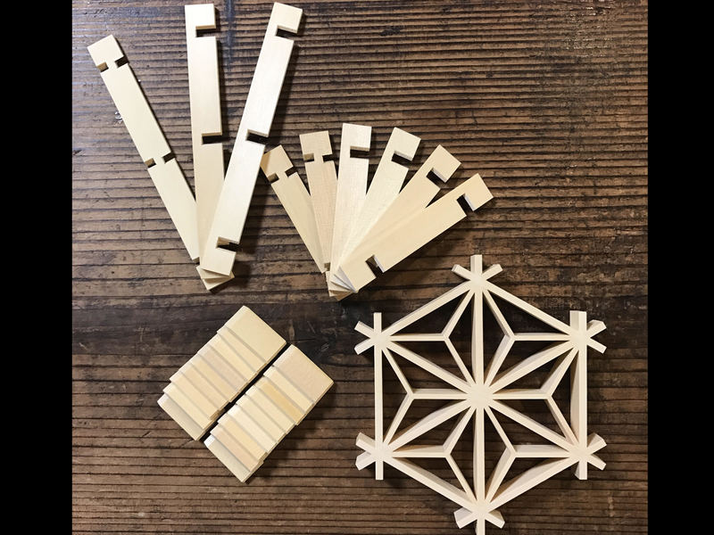 京町家で楽しむ!パズルのような伝統工芸組子細工組み立て体験の画像