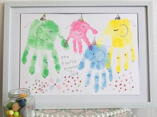 はじめての手形・足形アート(親子ワークショップ)の画像
