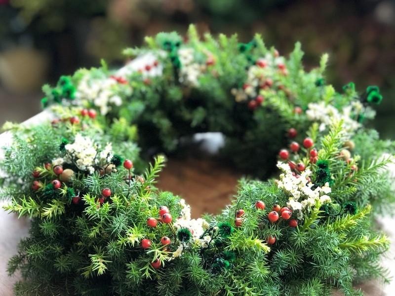 クリスマスリースワークショップの画像