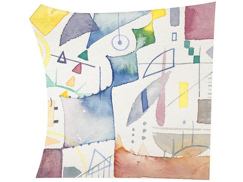 はじめての抽象画〜形の中の抽象画〜の画像