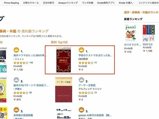 1日で出版しよう!Amazonランキング1位を取りましょう!の画像