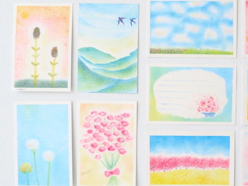初心者歓迎☆ 3色パステルアート教室【画材セット付】の画像