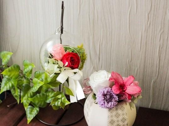【tea付】和モダンなフラワーアレンジメント〜大塚駅徒歩3分の画像