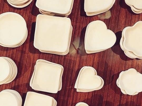 豆皿に絵付け体験!の画像
