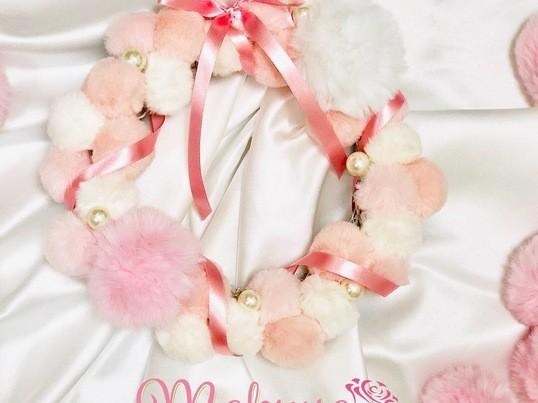 可愛い♡オリジナル【makyua ふわもこリース】レッスンの画像