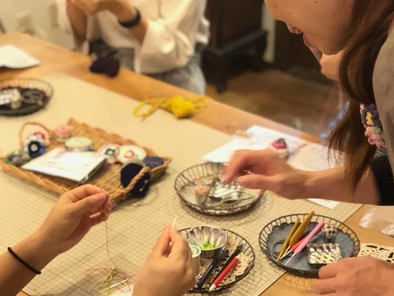 平日夜!浅草橋で6つのメニューから選べるかぎ針編みのワークショップの画像