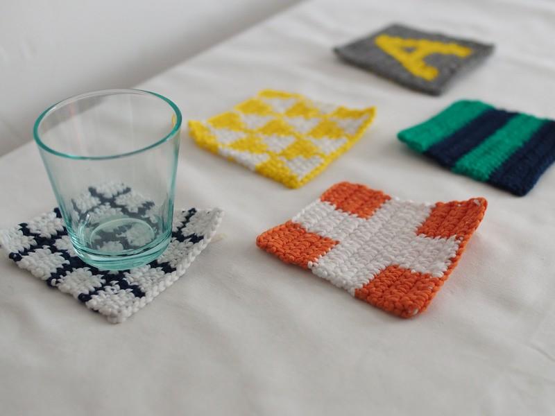 表参道でカギ針編みレッスン。グラフィックコースターを編みましょう。の画像