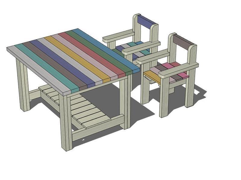 tukuriba4周年【ガーデンDIY FES】②ガーデンテーブルの画像