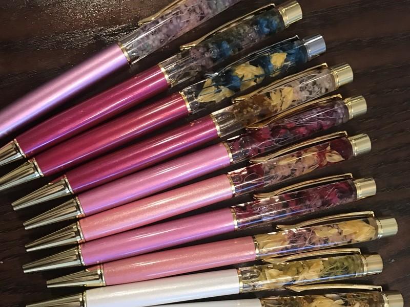 オリジナルのハーバリウムフラワーペンが作れる♫レッスンの画像