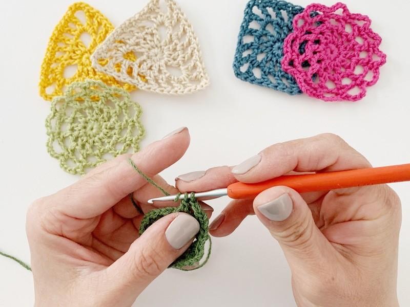 まんまるモチーフを編む、初めてさんの為のかぎ針編みワークショップの画像