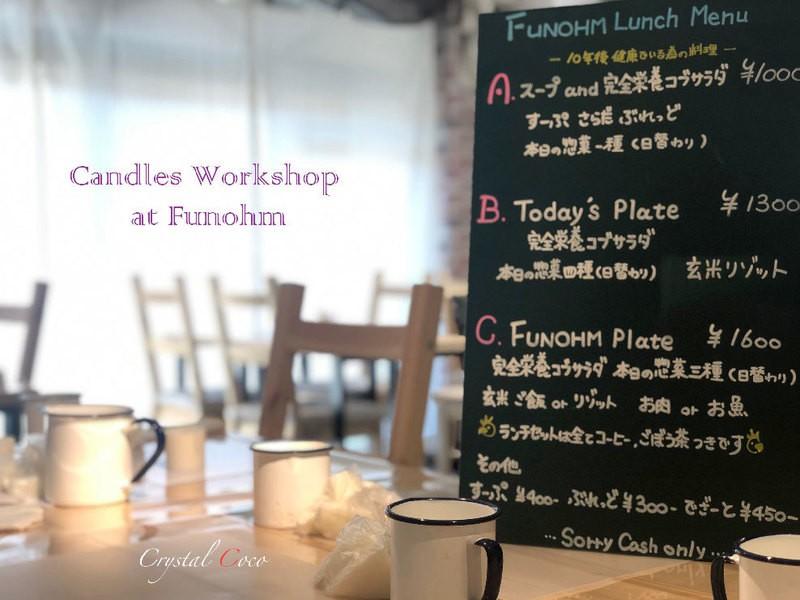 健康野菜中心のカフェでスイートなボタニカルキャンドルワークショップの画像