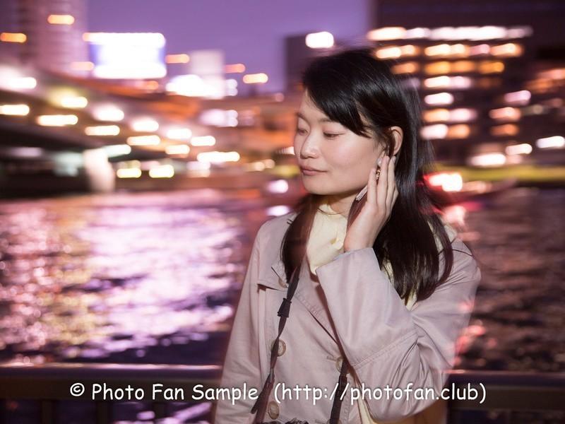 【大阪】ストロボやスローシャッターで差をつけろ!夕暮れ・夜景ポトレの画像