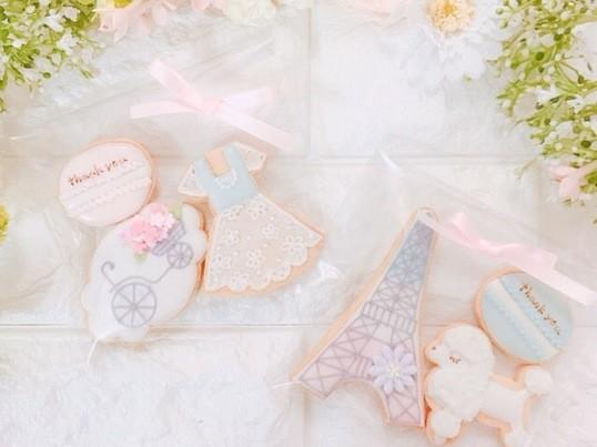 子連れでも楽しめる♪春のパリ風アイシングクッキーレッスンの画像
