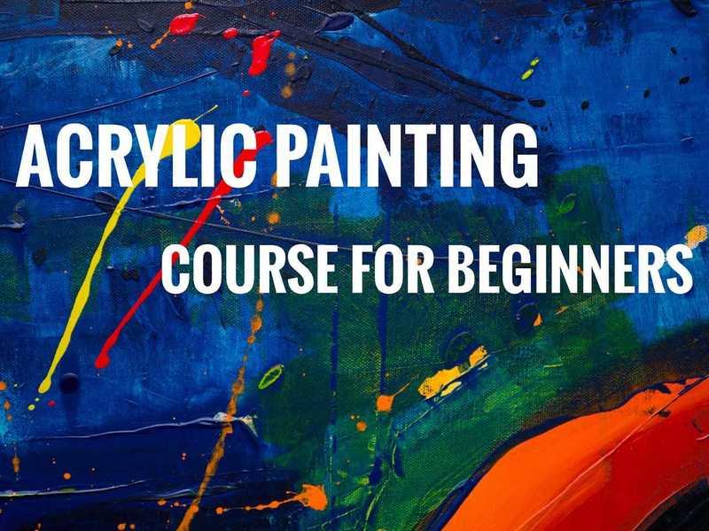 【教室では手ぶらでOK!!】初心者のためのアクリル画クラスの画像