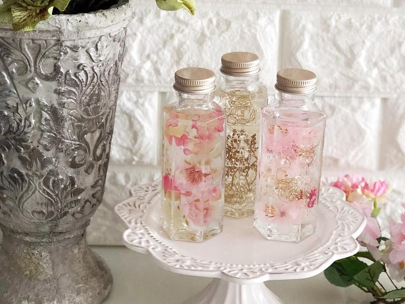 桜、ミモザ、パンジなどで作る♡春色のハ―バリウム♡の画像