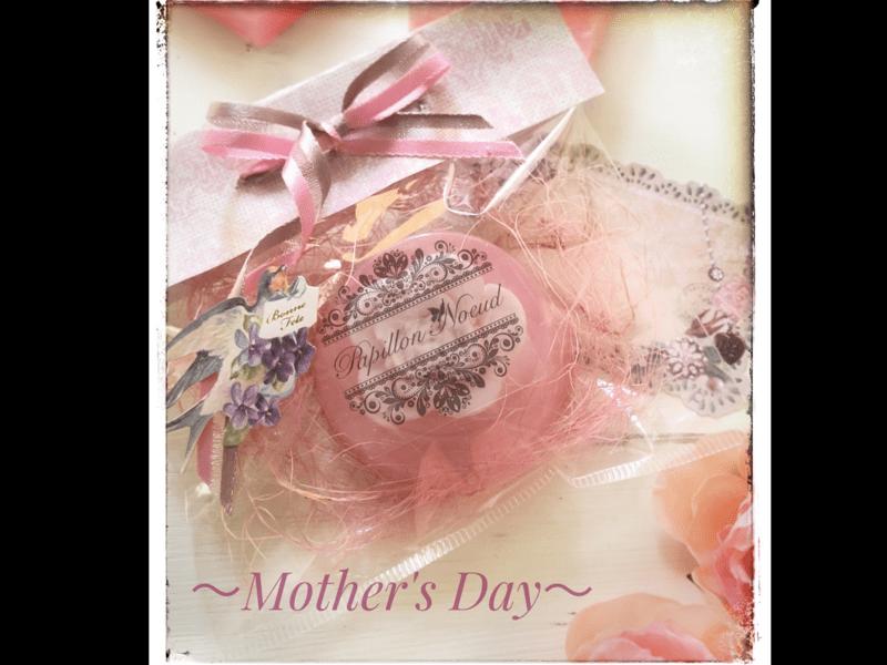 母の日に手作りプレゼント♪ かわいいフラワーソープ!の画像