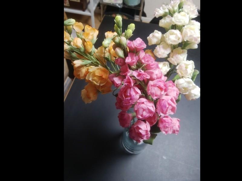 【体験】焼かずにできる花や人形の粘土クラフト工芸  市が尾校の画像