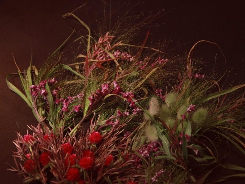 『野辺のリース』生花で作ってドライフラワーに—の画像