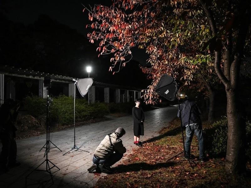 📷夜ポートレートでオフカメラライティングにチャレンジ!の画像