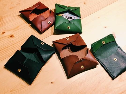 栃木レザーで作るカードケースまたはコインケースの画像