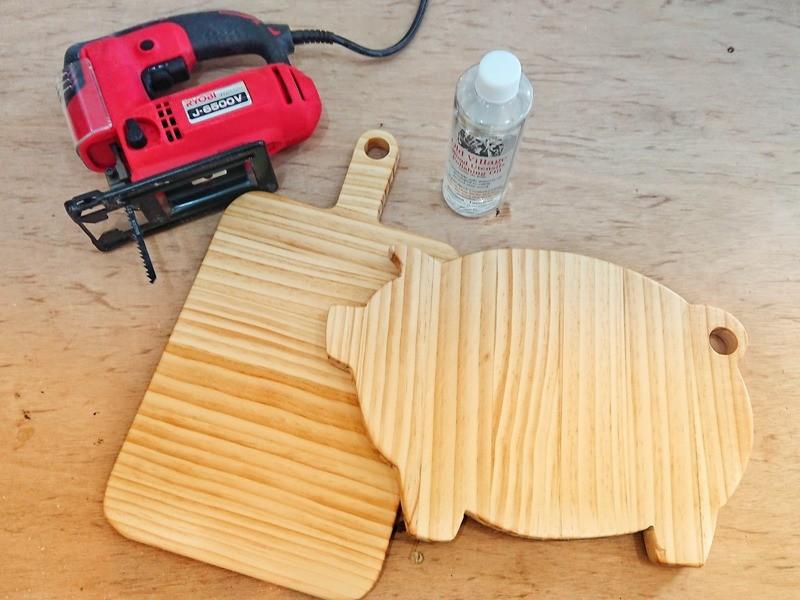 【DIYが初めての方におススメ!】ジグソーで作るカッティングボードの画像