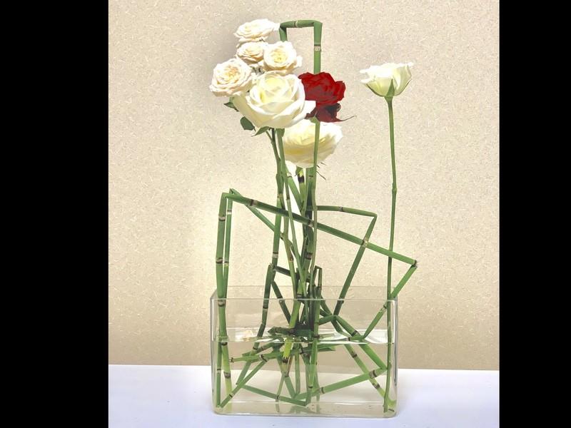 バラを素敵にいけましょう!(花器、水揚げ剤付き)の画像