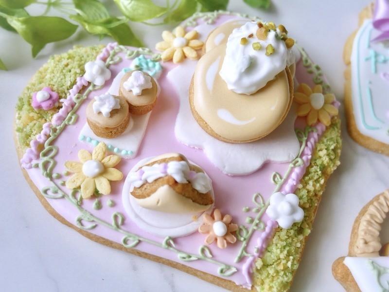 【6月7月限定】お花畑のピクニック♪アイシングクッキーの画像