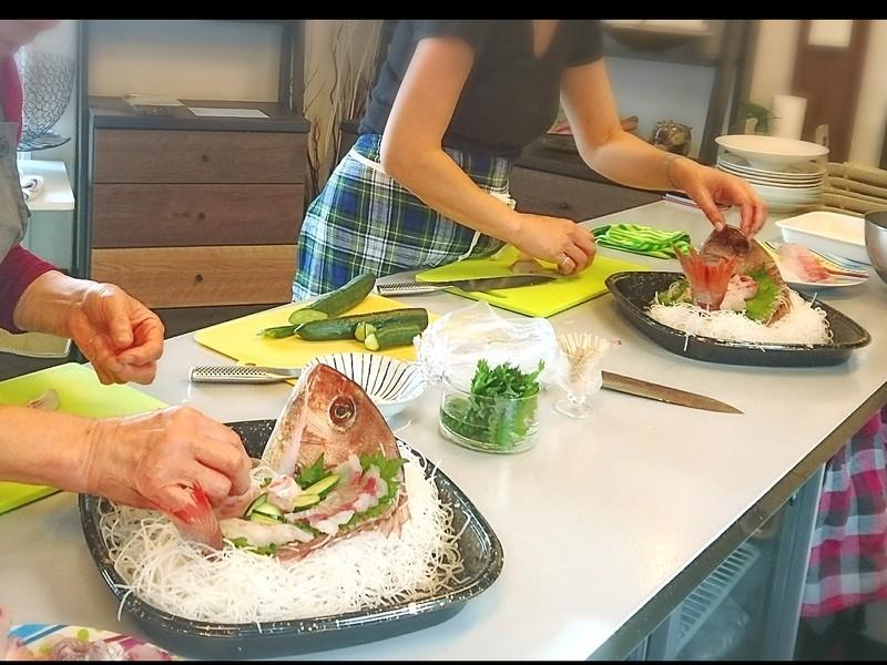 今が旬の地物天然真鯛を使って「豪華な真鯛の姿造り」レッスンの画像