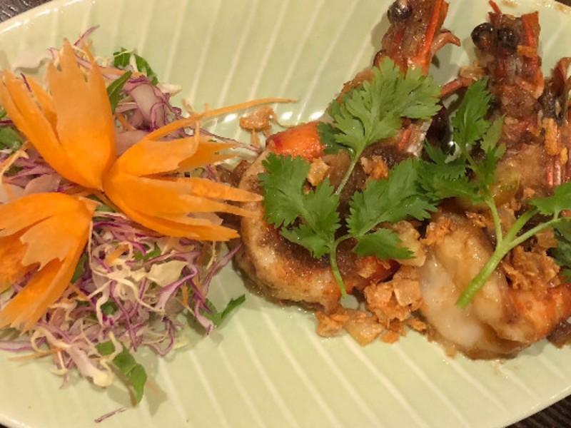 お家でレストラン。タイ風醤油焼きそば。の画像