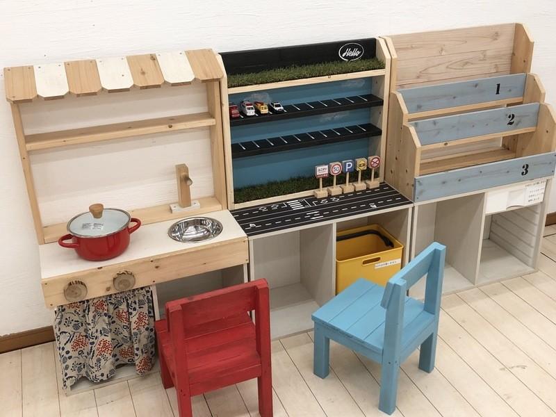【2時間コース】絵本棚DIY教室(前板のみ塗装)の画像