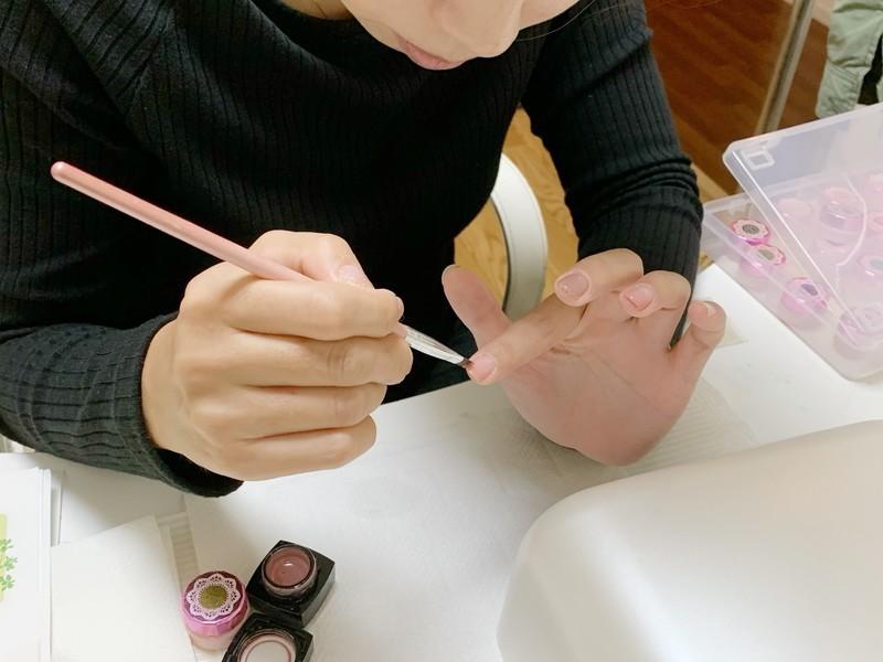 【京都西院】超初心者のためのセルフジェルネイルレッスンの画像