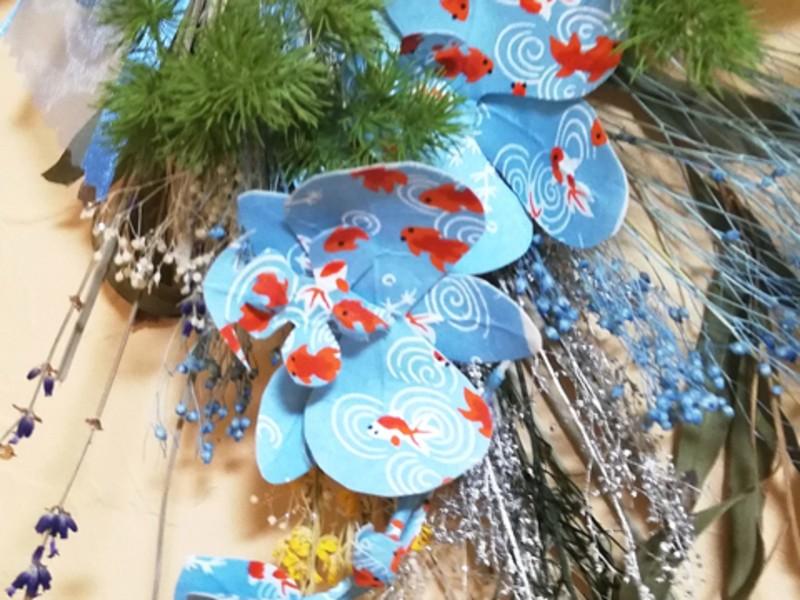 アートおり花かみを使って親子で簡単「夏のスワッグを作ろう🎶」の画像