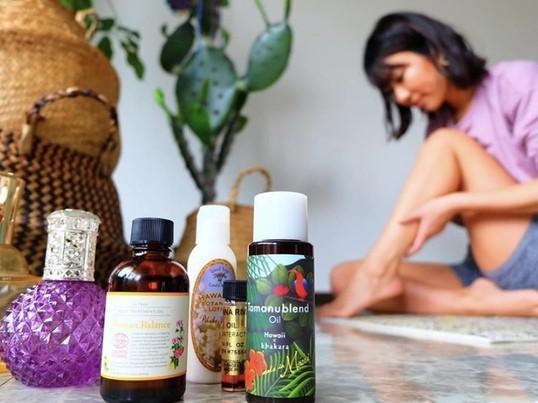 アロマの香りとオイルを楽しむ-アロマデトックスヨガ-の画像