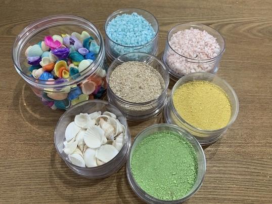 𓇼夏休み工作𓇼貝殻や砂を使ったハーバリウム親子レッスンの画像