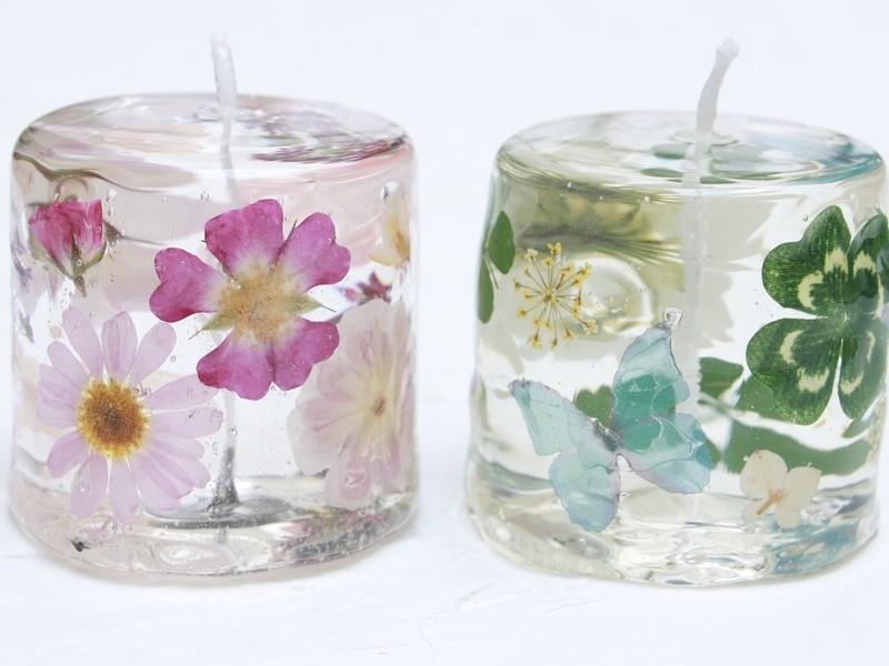 お花が透ける*花露キャンドルワークショップの画像
